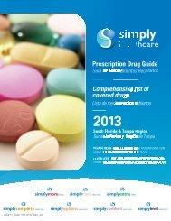 Prescription Drug Guide Comprehensive list of covered drugs