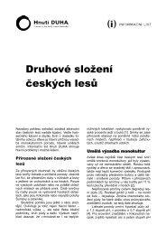 Druhové složení českých lesů - Hnutí DUHA