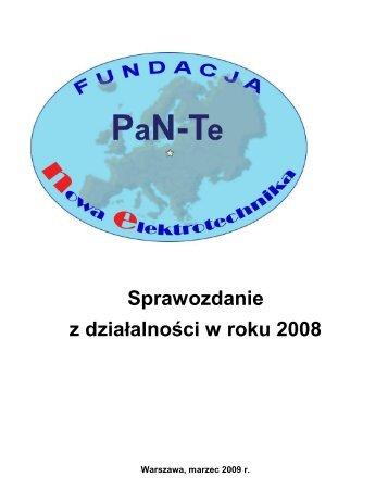 Sprawozdanie z działalności w roku 2008