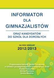 Informator dla gminazjalistów - 2012 rok - Powiat pszczyński