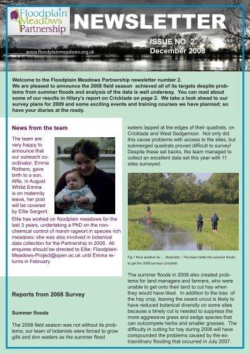 Newsletter 02 - December 2008 [pdf] - Floodplain Meadows ...