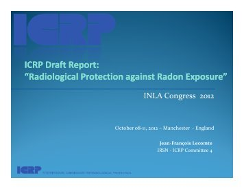 """ICRP Draft Report: """"Radiological Protection ... - Burges Salmon"""