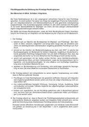 Flüchtlingspolitische Erklärung des Kreistags ... - Aktion Bleiberecht