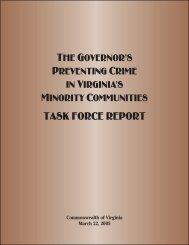 Task Force Report - Virginia Department of Criminal Justice ...