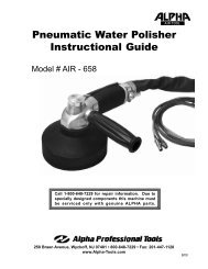 Pneumatic Water Polisher Instructional Guide - His Glassworks