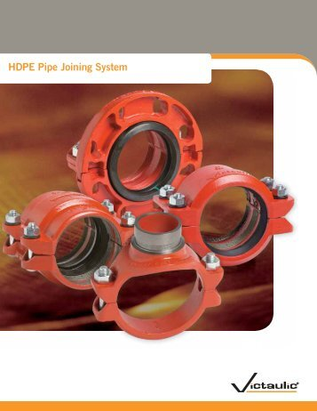 HDPE Pipe Joining System - Victaulic
