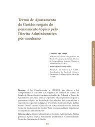 Termo de Ajustamento de Gestão: resgate do ... - Revista do TCE