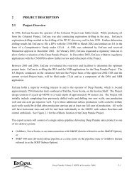 Deep Panuke Project description - Encana