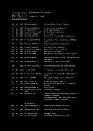 National Press Club of Australia Speakers List | 1960s