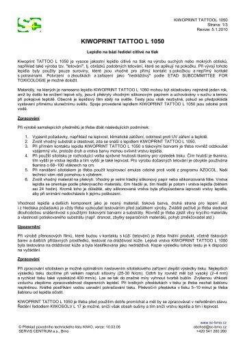 KIWOPRINT TATTOO L 1050.pdf - SERVIS CENTRUM