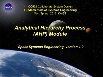 AHP - Systems Modeling Simulation Lab. KAIST
