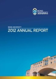 2012 ANNUAL REPORT - Bond University