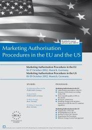 Marketing Authorisation Procedures in the EU - European ...