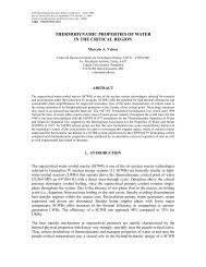 thermodynamic properties of water in the critical region - CDTN