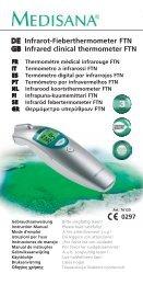 DE Infrarot-Fieberthermometer FTN GB Infrared clinical ... - Medisana