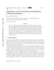 J. Nonlinear Mathematical Physics 5 (no.3) (1998)