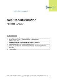 Klienten-Info 2013-02 - Dr. Farmer SteuerberatungsgmbH
