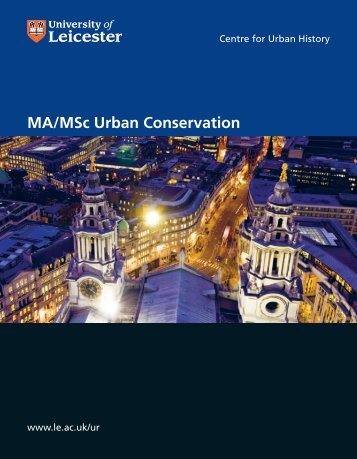 PG Urban Conservation - University of Leicester