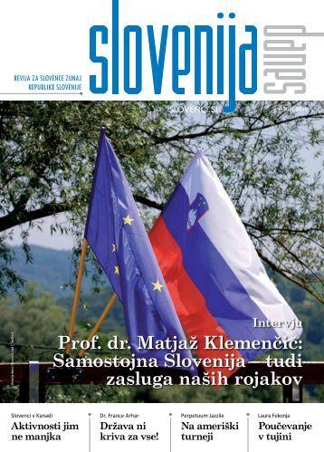 julijska številka revije za Slovence po svetu »Slovenija danes