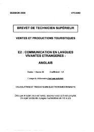sujets-anglais-vpt-2.. - Bts Tourisme