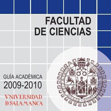 FACULTAD DE CIENCIAS GUÍA ACADÉMICA 2009-2010 Page 2 ...