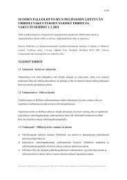 SPL Pelipassivakuutuksen yleiset ehdot ja ... - Suomen Palloliitto