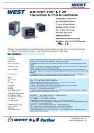 West 6100+, 8100+ & 4100+ Temperature ... - Temp-Press Inc