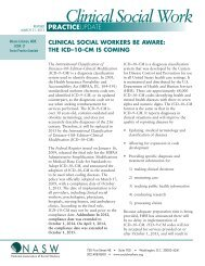 The ICD–10–CM is Coming! - National Association of Social Workers