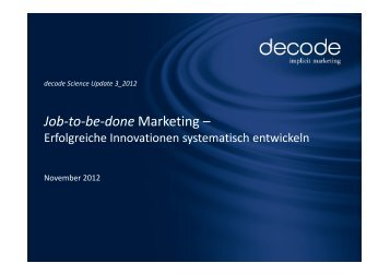 german PDF - Science Update - decode Marketingberatung