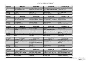REPAS MATERNELLES ET PRIMAIRES Semaine 36 ... - Verchaix