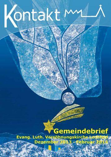 Gemeindebrief Winter 2013 - Lechfeld-Pfarreien