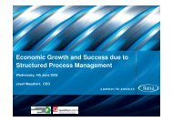 Economic Growth and Success due to Structured Process ... - EOQ