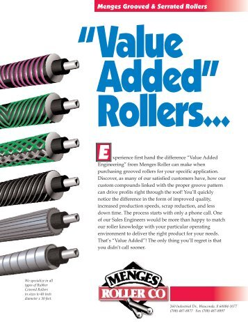 Grooved & Serrated Rollers