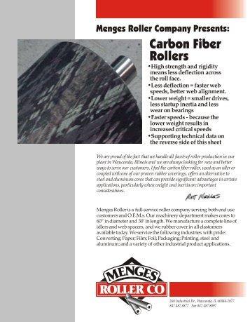 Carbon Fiber Rollers - Menges Roller Company, Inc.