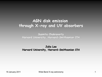 AGN disk emission through X-ray and UV absorbers - iucaa