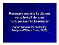 Kerangka analisis kebijakan yang terkait dengan mutu ... - KMPK