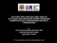 a study of factors influencing oral health attitudes and behaviour ...