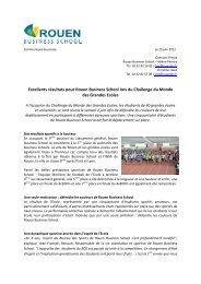 Excellents résultats pour Rouen Business School lors du Challenge ...