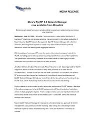 Meru Introduces E(z)RF 2.0 Network Manager 2009-06-29 - Wavelink