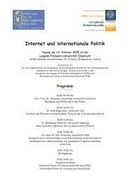 Internet und internationale Politik