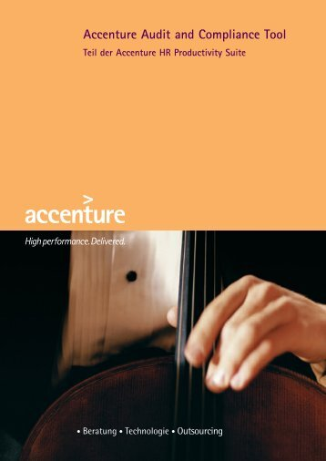Accenture Audit and Compliance Tool