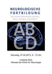 27. April: ABCD-Symposium - Zentrum für Neurologie und Psychiatrie