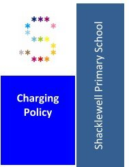 Charging Policy - Shacklewell Primary School