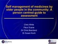 Self management - Royal District Nursing Service