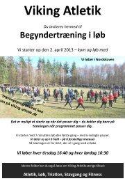 Vi løber hver tirsdag 16:40 og hver lørdag 10:30 - Viking Atletik