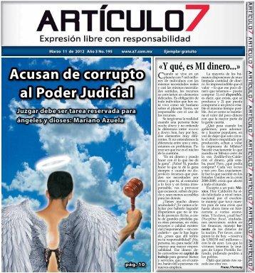 Acusan de corrupto al Poder Judicial - a7.com.mx
