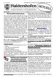 Altkleidersammlung - Haidershofen