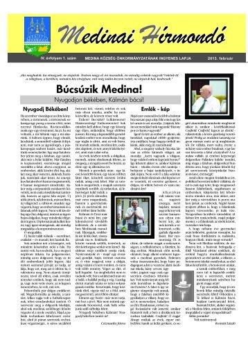 Medinai Hírmondó IV. Évfolyam 1. szám 2013. február