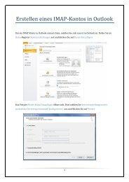 IMAP-Account in Outlook erstellen