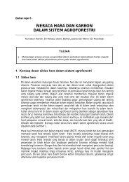 BOT dalam sistem agroforestry - Biology East Borneo